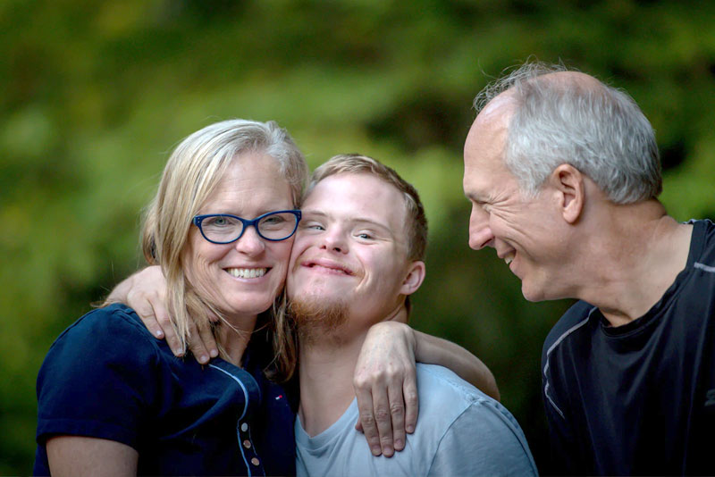 Child with Special Needs with Family